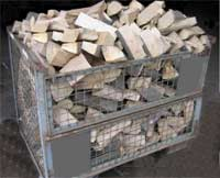 Brennholz trocknen mit einer DB-Gitterbox