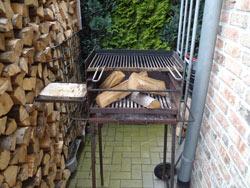 Grillen mit Holz