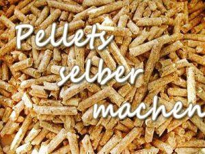 Pellets für den Pelletkorb selber machen