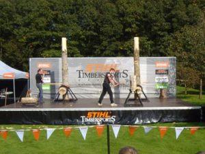 Stiihl Timbersports Vorführungen bei Pickmann in Kervenheim